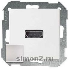 Розетка HDMI Simon 82 Detail типа «мама» (Алюминий)