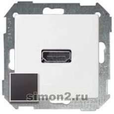 Розетка HDMI Simon 82 Detail типа «мама» (Графит)